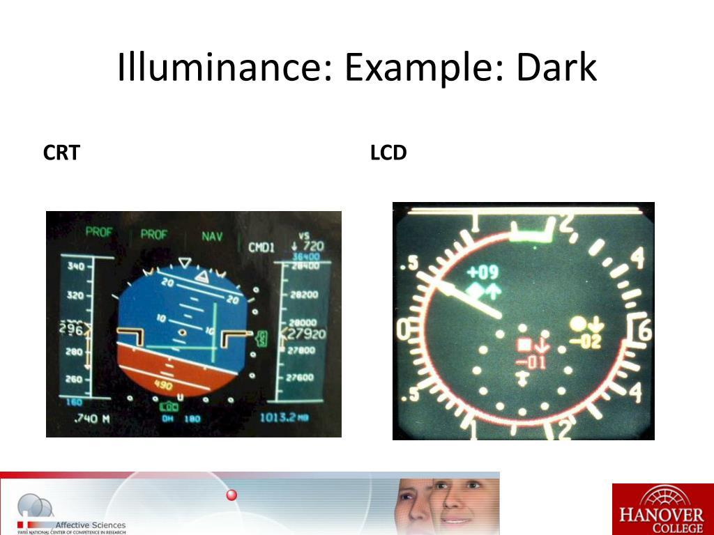 Illuminance: Example: Dark