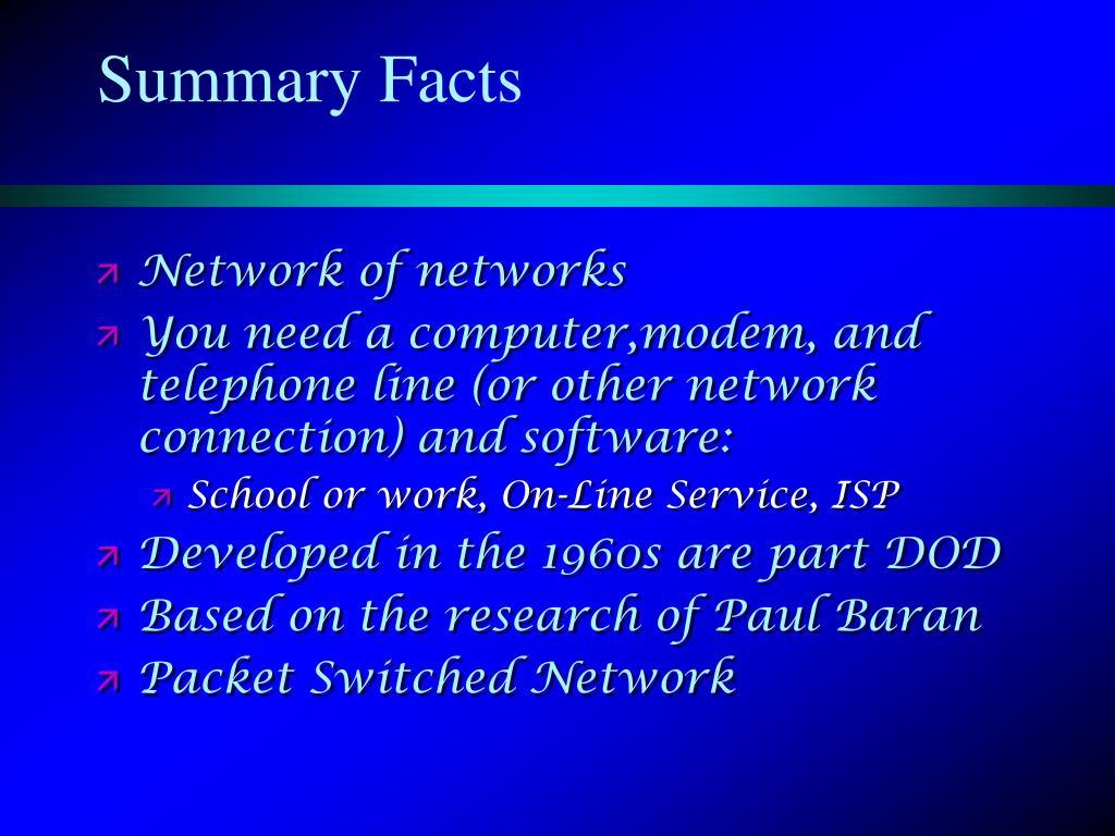 Summary Facts