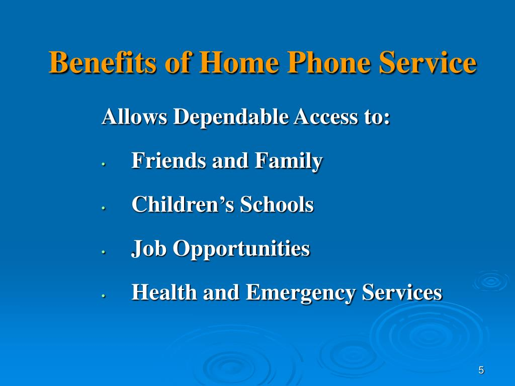 Benefits of Home Phone Service