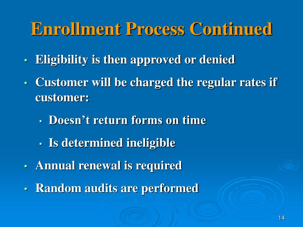 enrollment process When you enroll your company in e-verify, you need to tell us some basic information about your company and agree to the rules of our program during the enrollment process, you will: you.