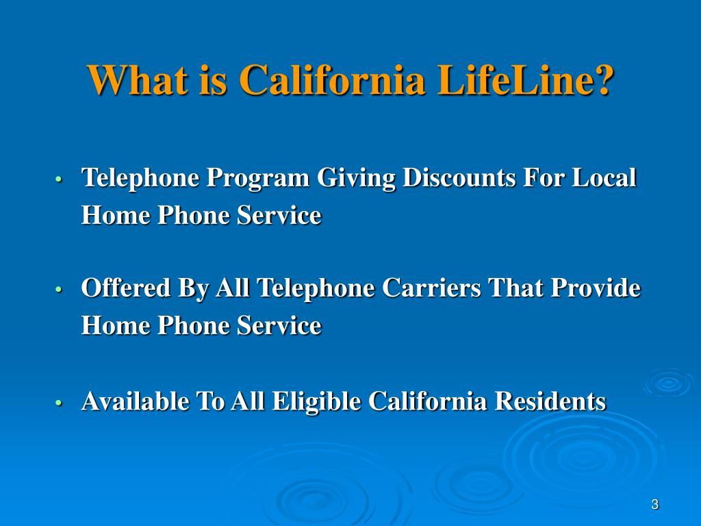 What is California LifeLine?
