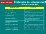 challenging case management topics continued53