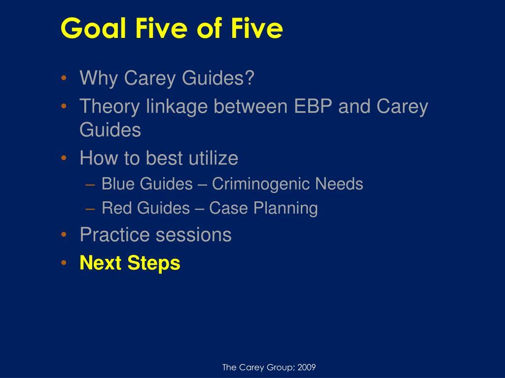 Goal Five of Five