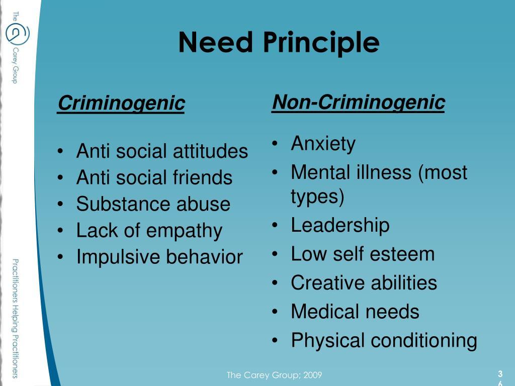 Need Principle