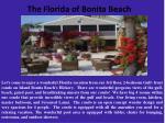 the florida of bonita beach