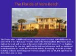 the florida of vero beach