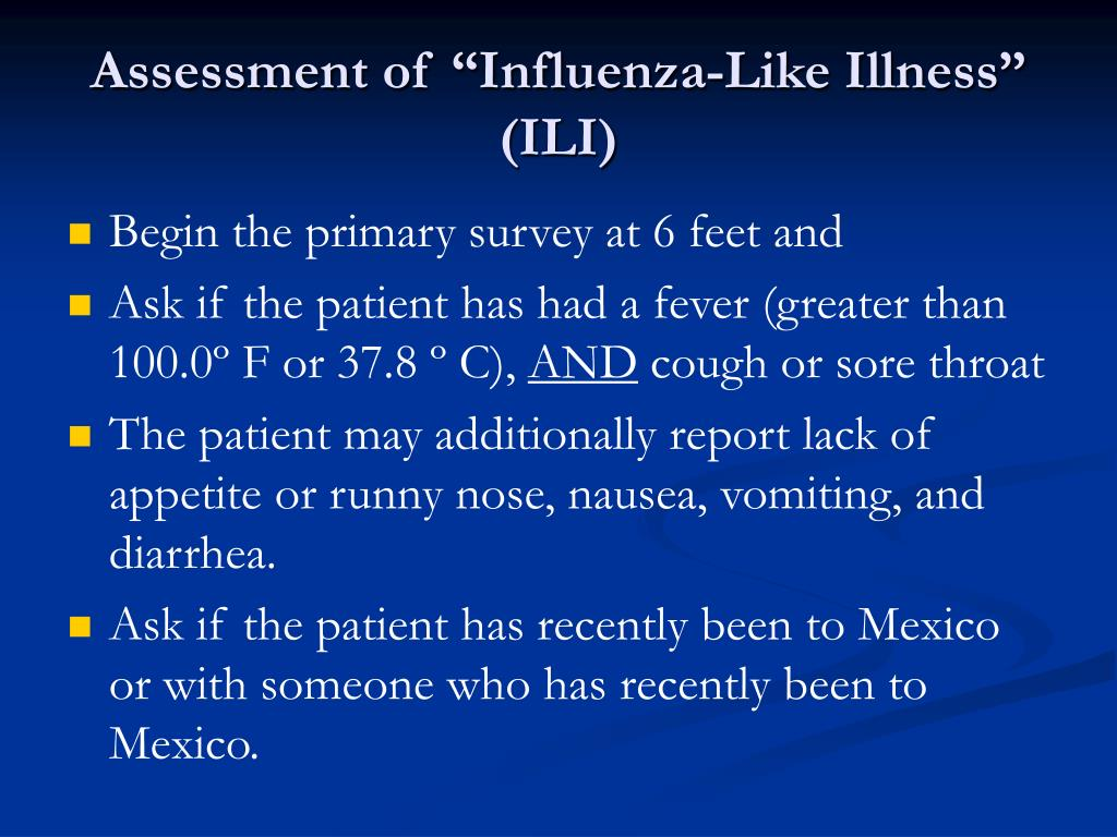 "Assessment of ""Influenza-Like Illness"" (ILI)"