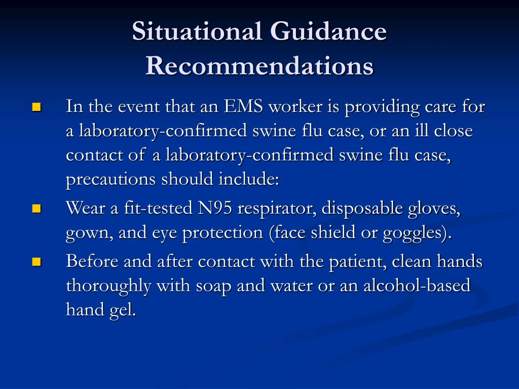 Situational Guidance Recommendations