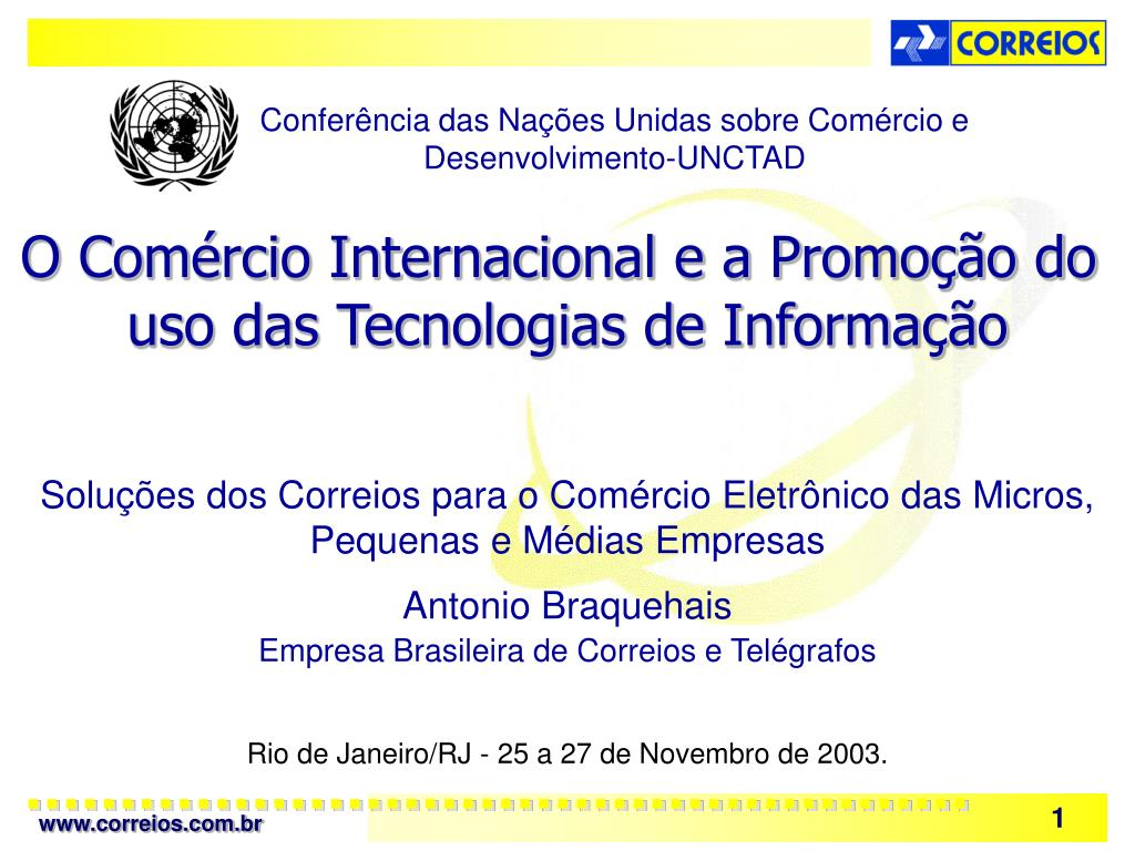 Conferência das Nações Unidas sobre Comércio e Desenvolvimento-UNCTAD
