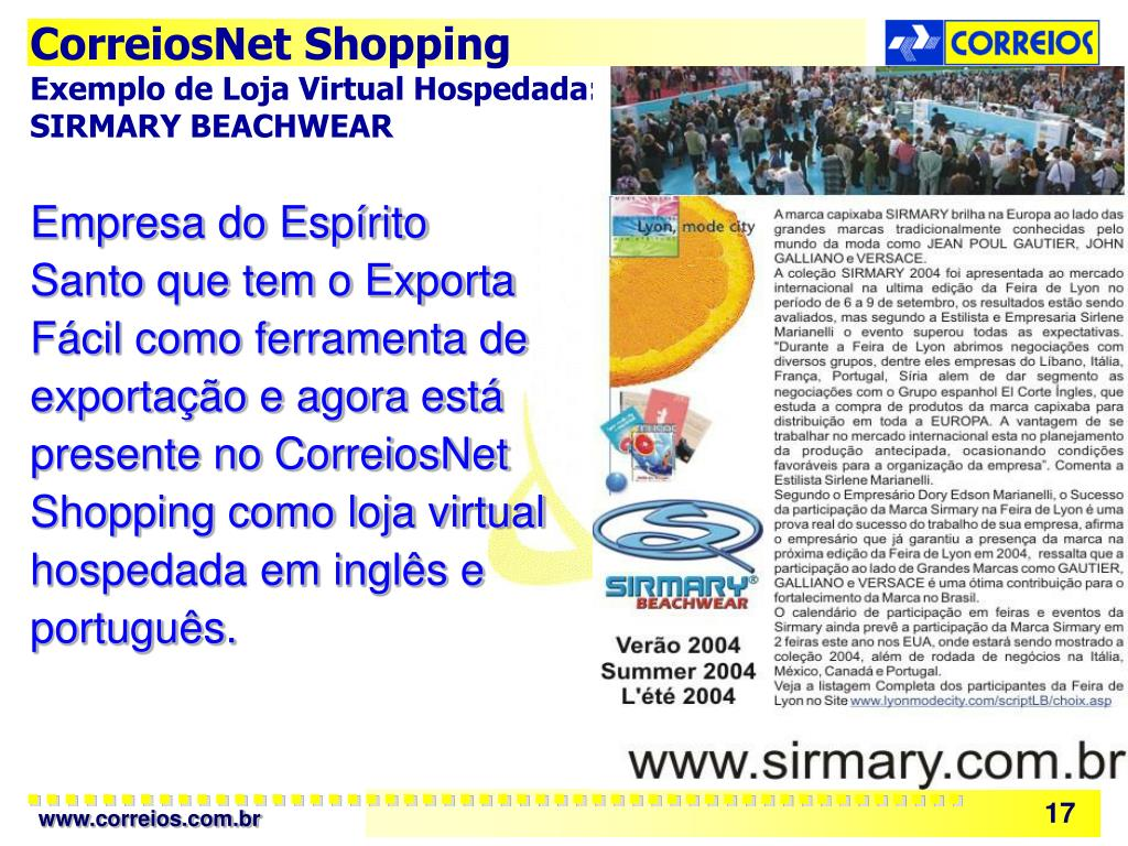CorreiosNet Shopping