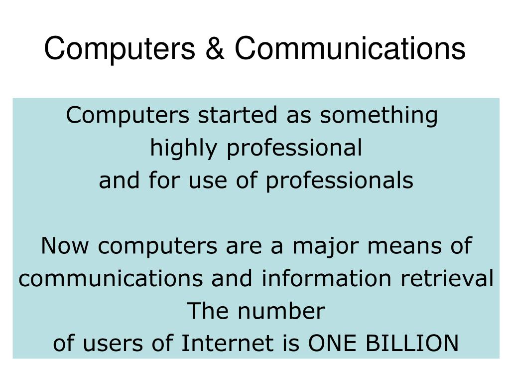 Computers & Communications