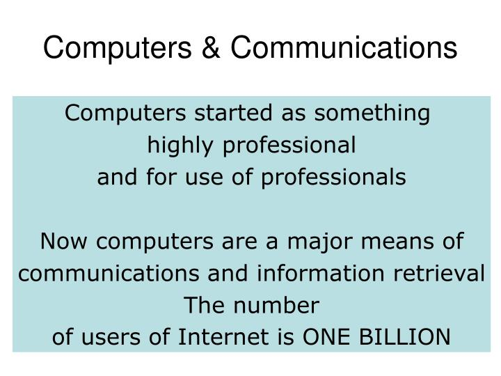 Computers communications