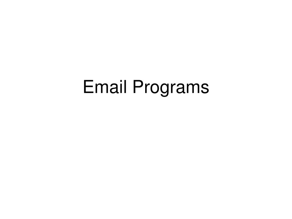 Email Programs