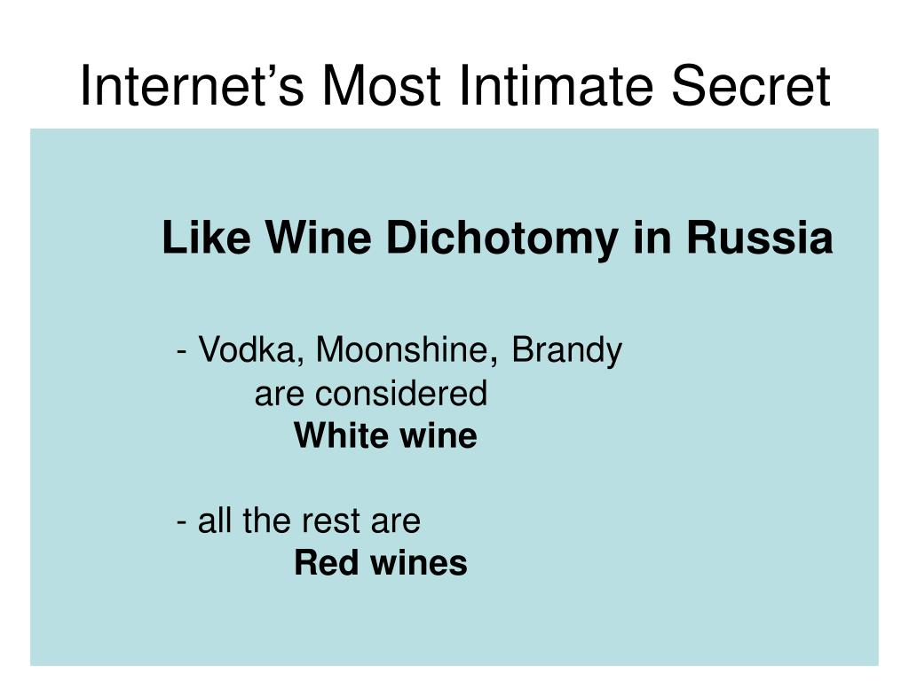 Internet's Most Intimate Secret