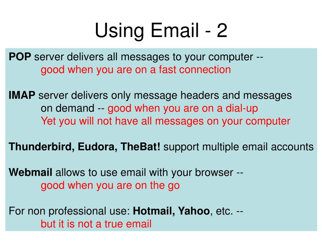 Using Email - 2