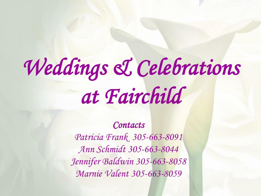 Weddings & Celebrations at Fairchild