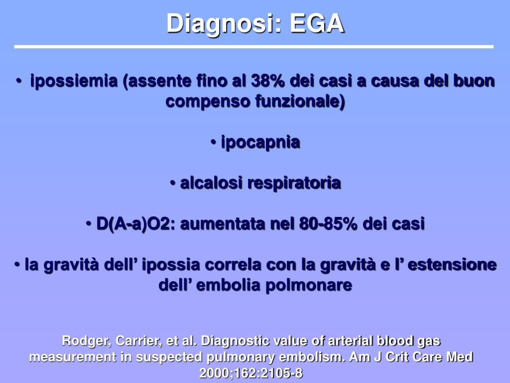 Diagnosi: EGA