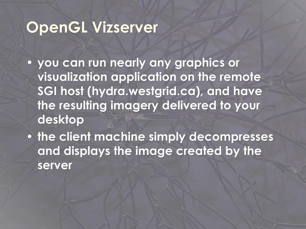 OpenGL Vizserver