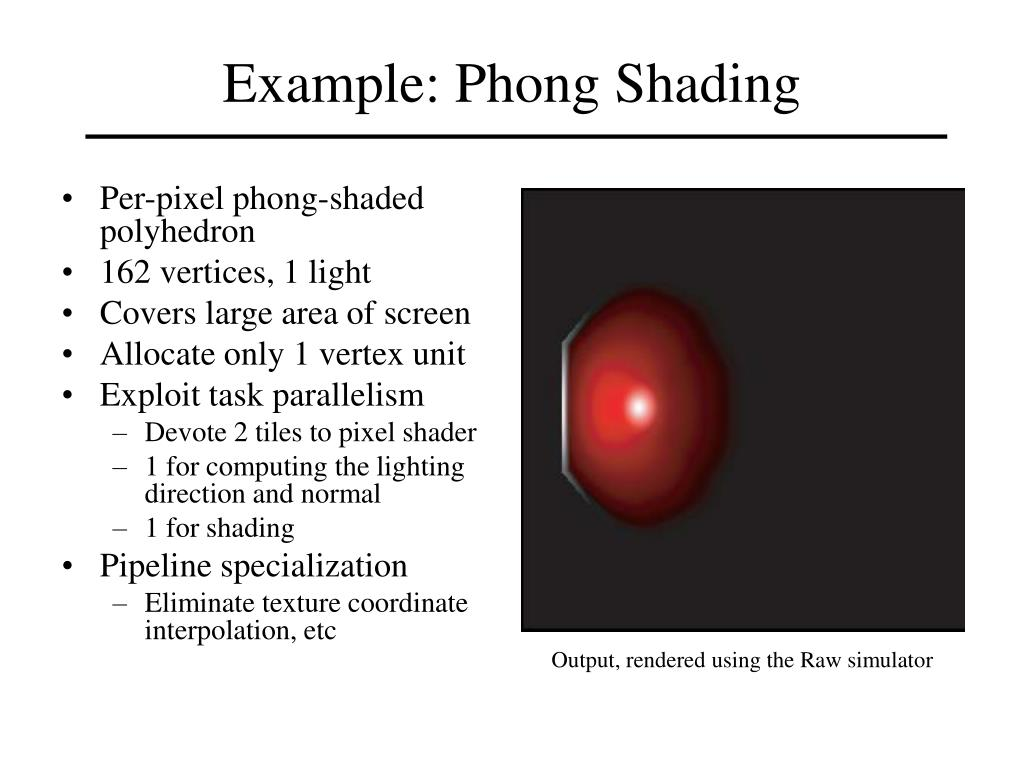Example: Phong Shading