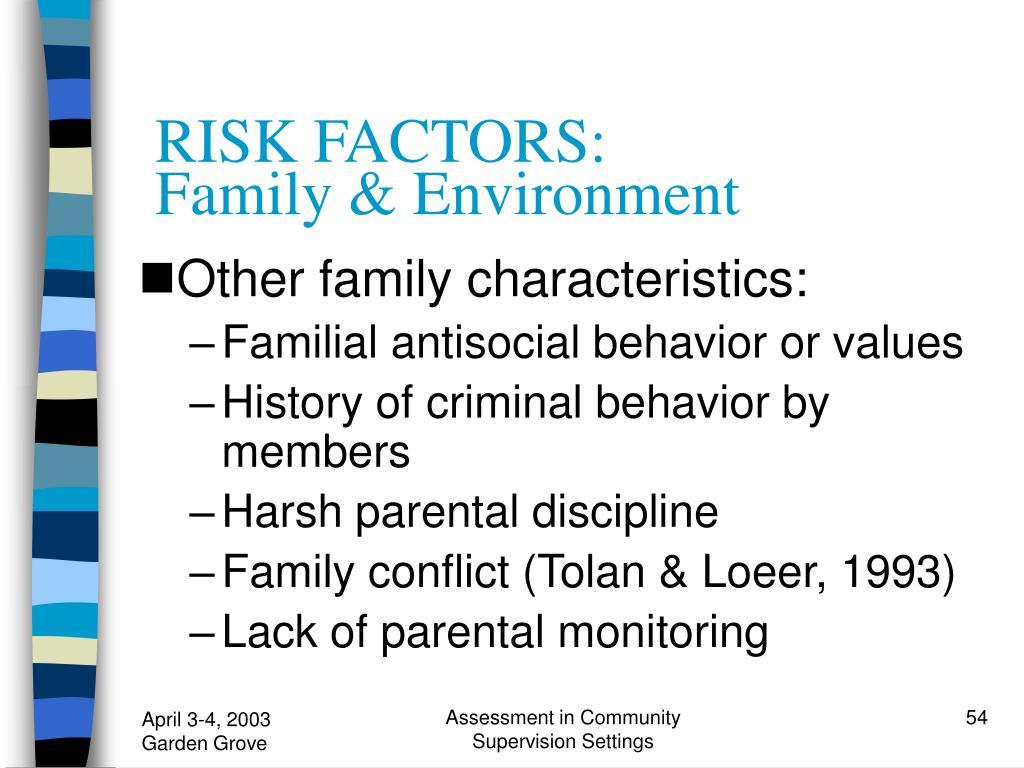 RISK FACTORS: