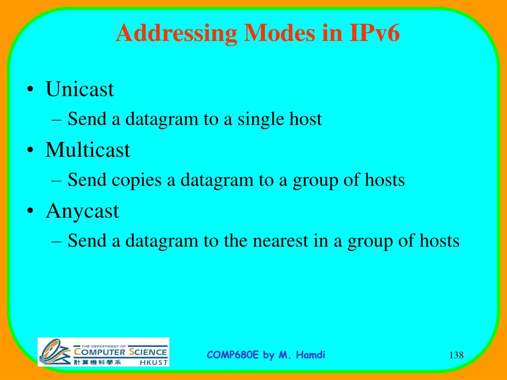 Addressing Modes in IPv6