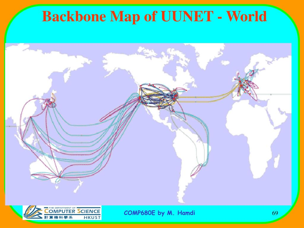 Backbone Map of UUNET - World