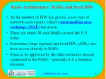 basic architecture maes and local isps