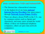basic architecture naps and national isps