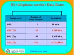 ds telephone carrier data rates