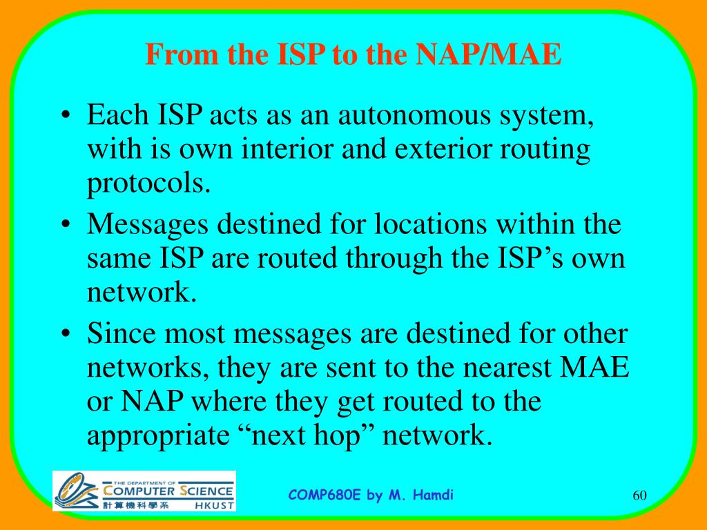 From the ISP to the NAP/MAE