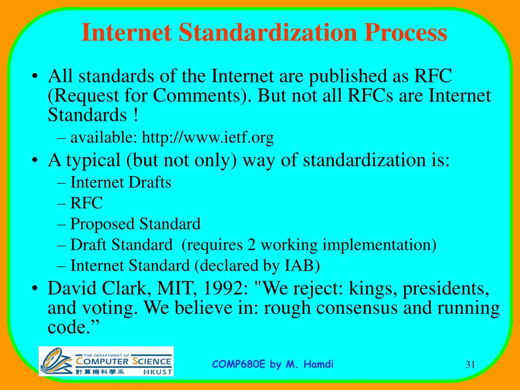 Internet Standardization Process