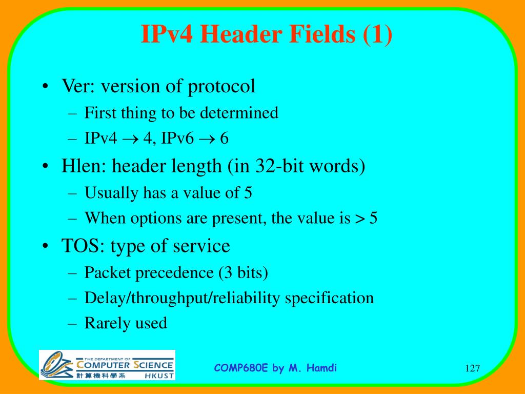 IPv4 Header Fields (1)