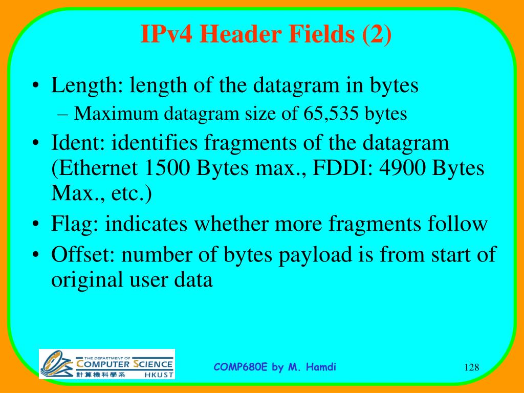 IPv4 Header Fields (2)