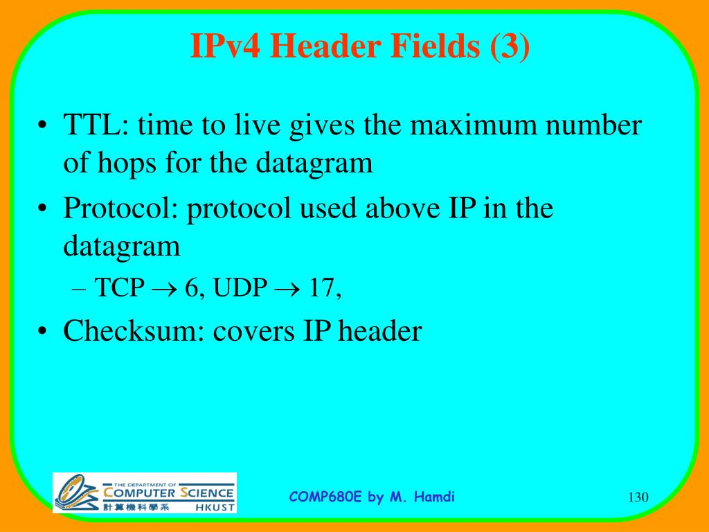 IPv4 Header Fields (3)