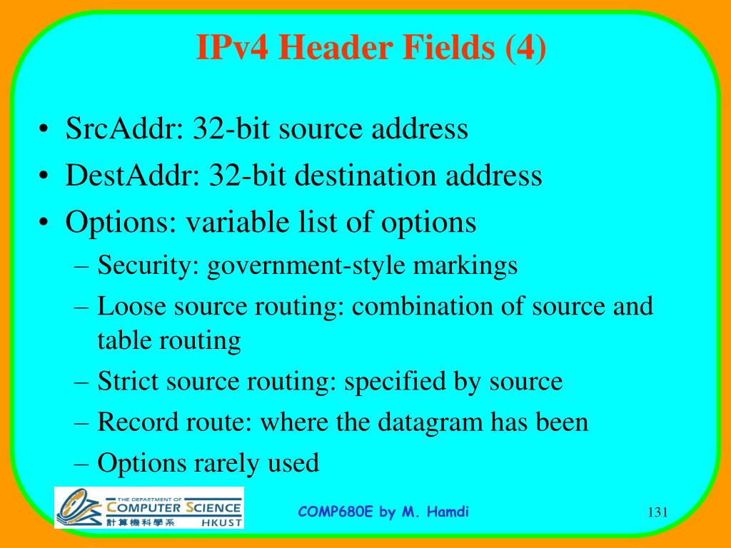 IPv4 Header Fields (4)
