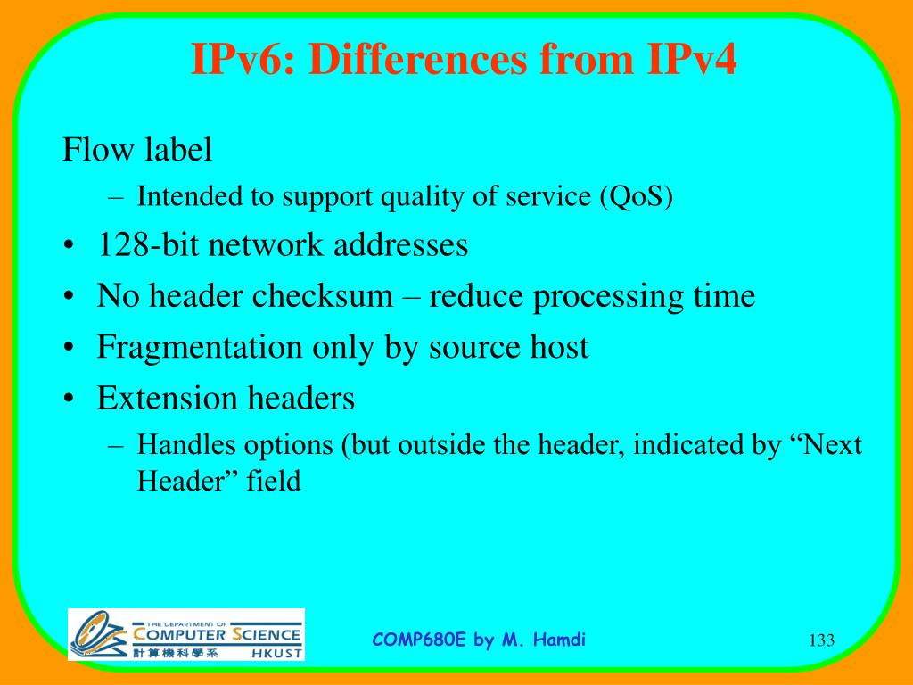 IPv6: Differences from IPv4
