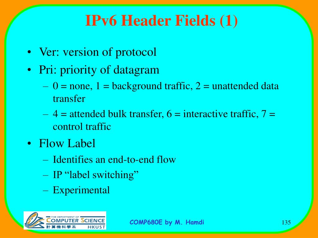 IPv6 Header Fields (1)