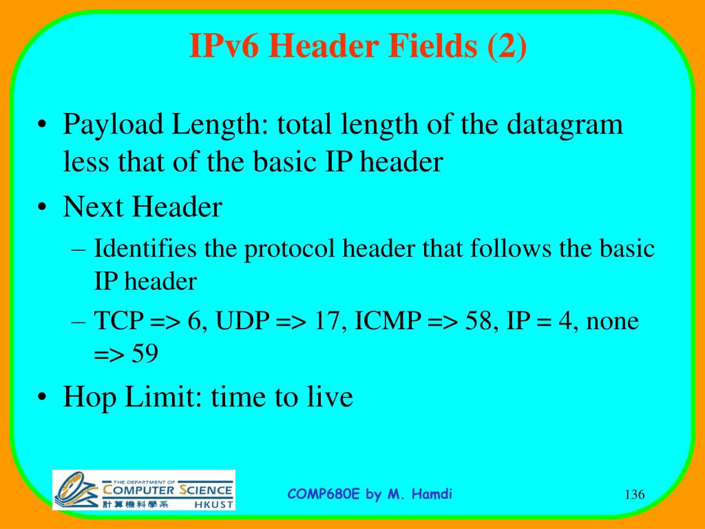 IPv6 Header Fields (2)
