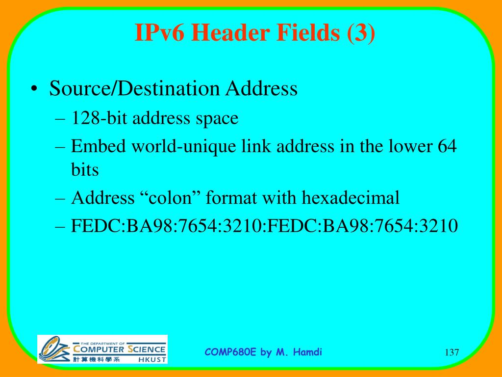 IPv6 Header Fields (3)