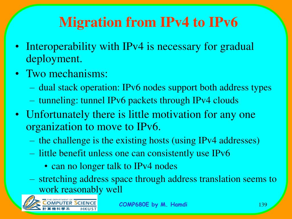 Migration from IPv4 to IPv6