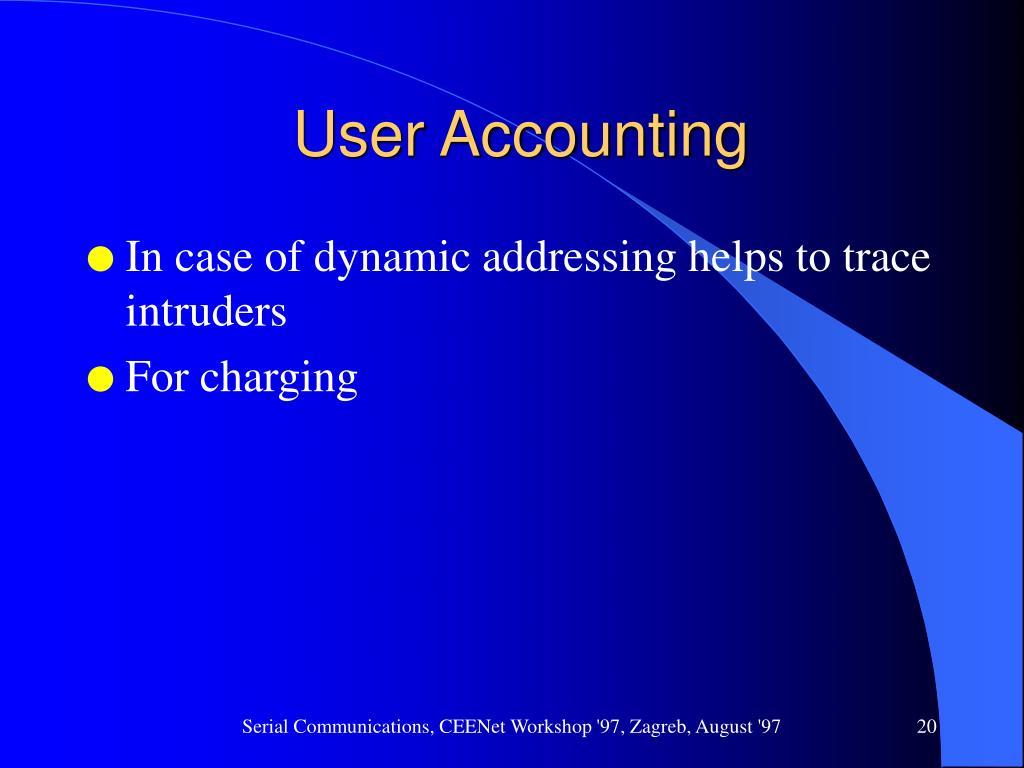 User Accounting