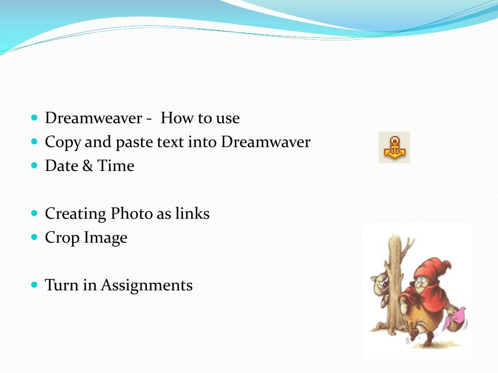 Dreamweaver -  How to use