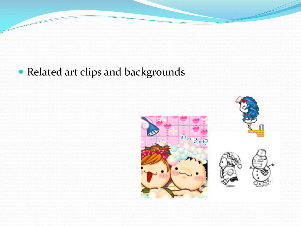 Related art clips and backgrounds