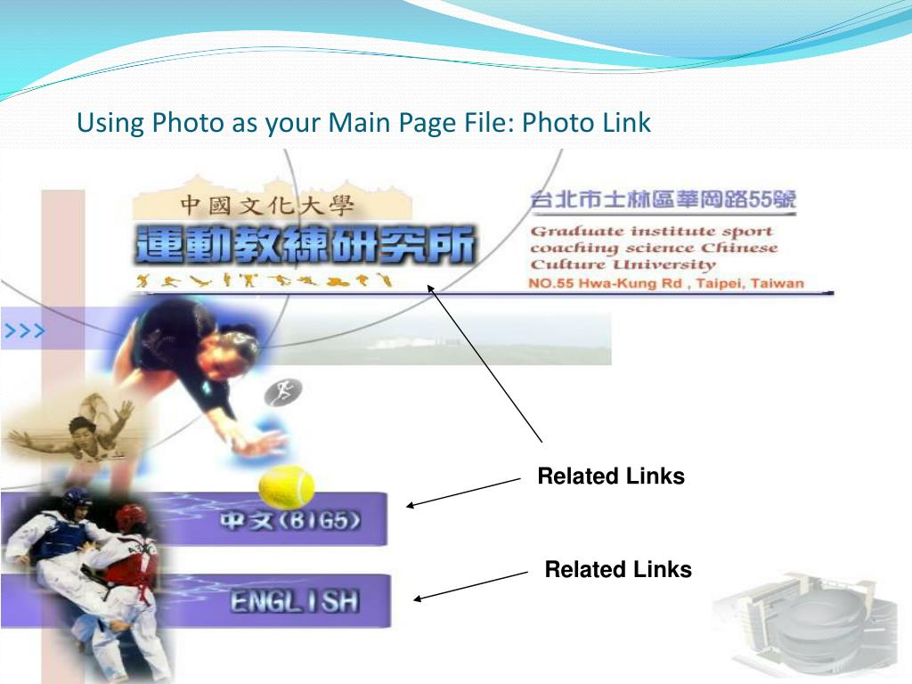 Using Photo as your Main Page File: Photo Link