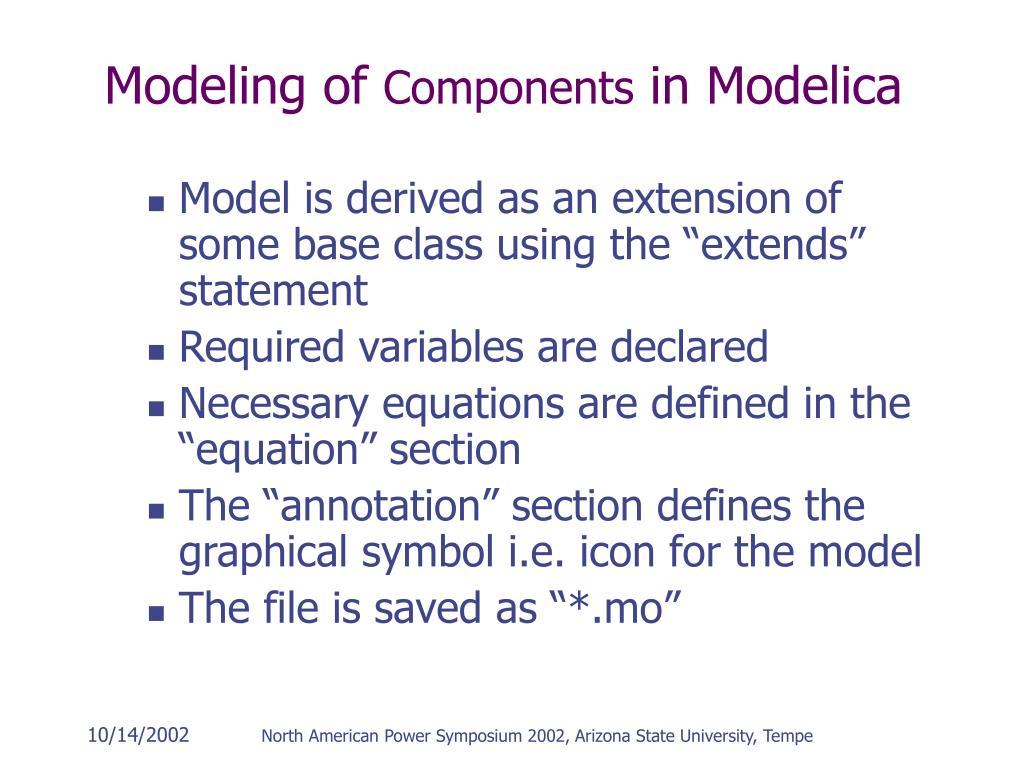 Modeling of
