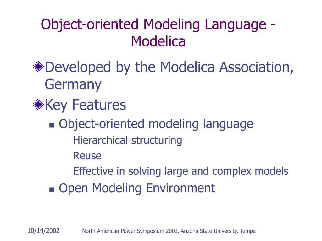 Object-oriented Modeling Language - Modelica