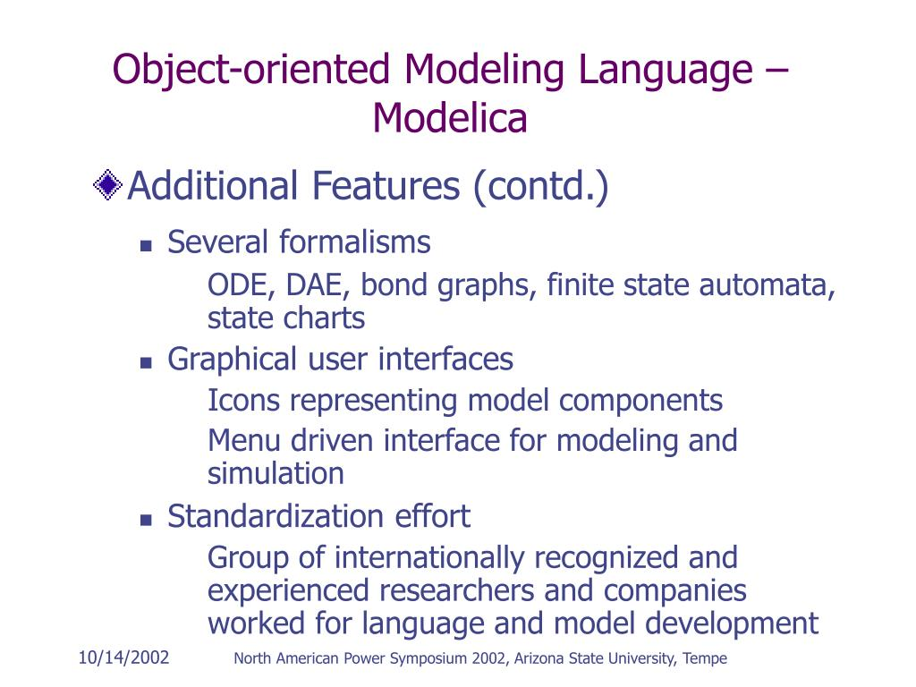 Object-oriented Modeling Language – Modelica