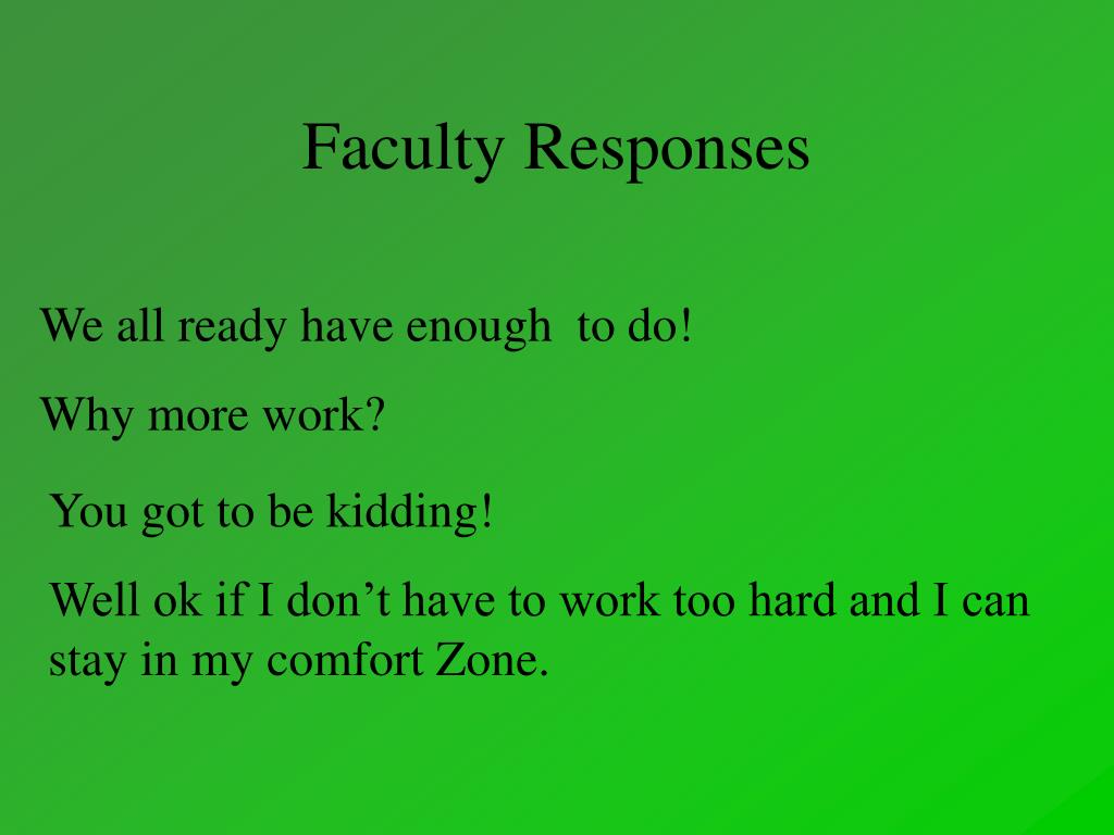 Faculty Responses