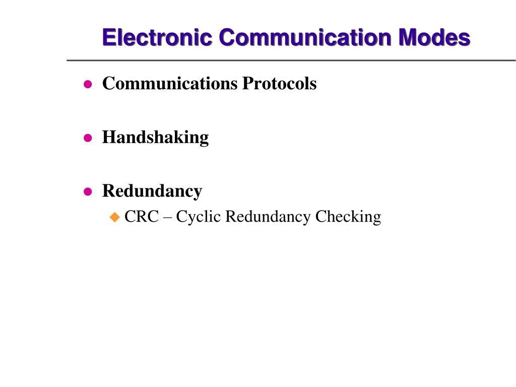 Electronic Communication Modes