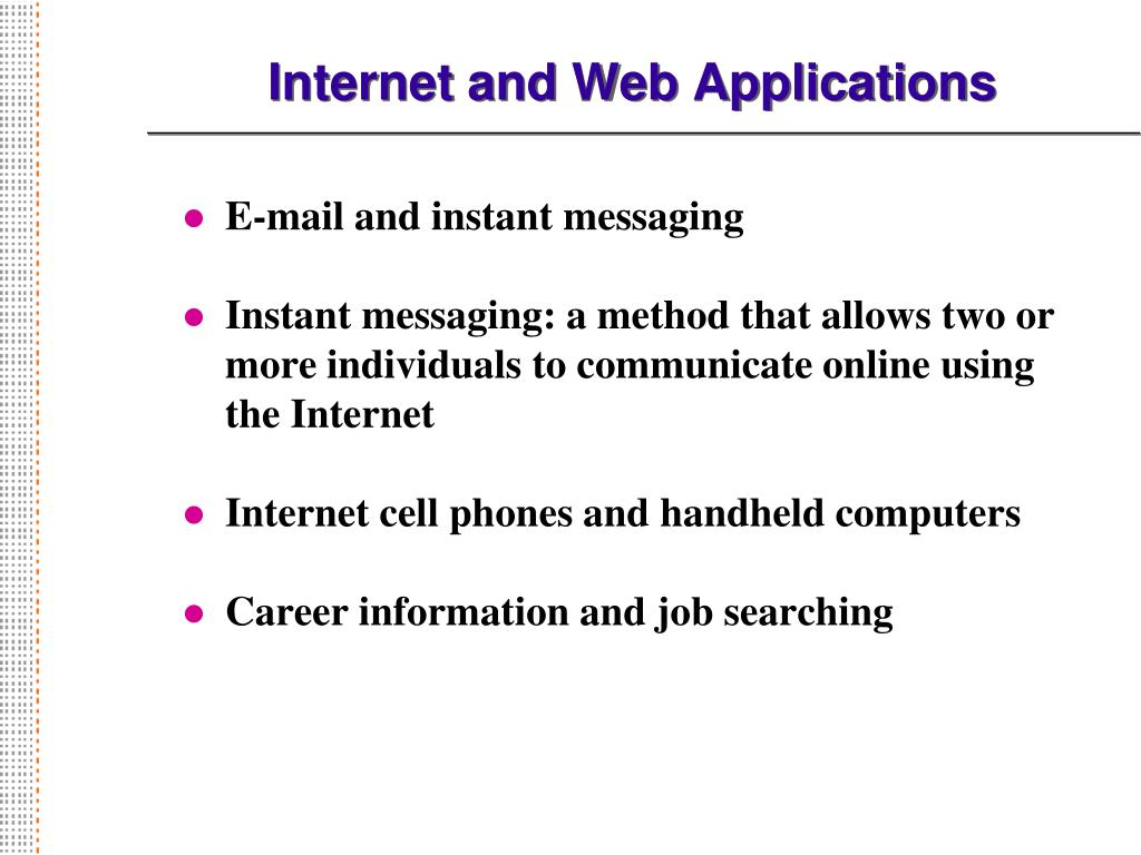 Internet and Web Applications